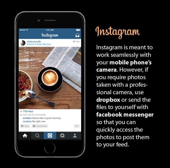 Instagram use dropbox or messenger