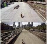 Antes e depois de efeitos especiais de cinema (1)