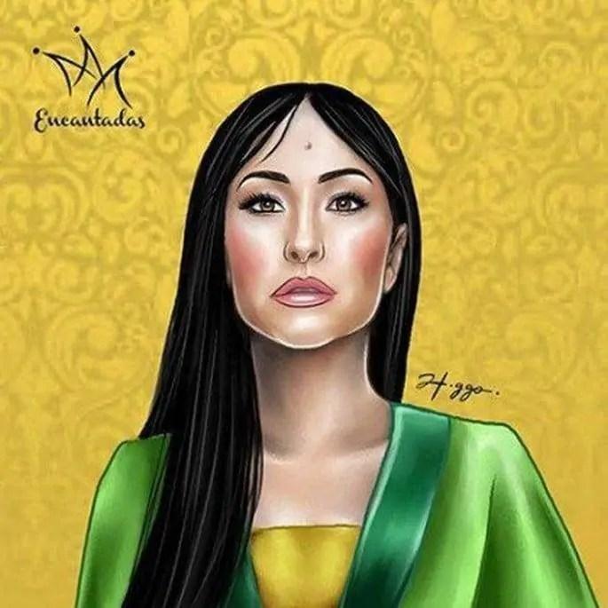 Ilustrador cria princesas da Disney com rostos de artistas brasileiras (4)