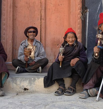 Faces and landscapes of little Tibet