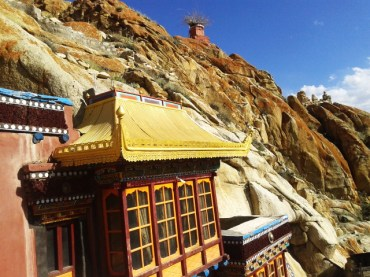Rock Roof Temple in Ladakh