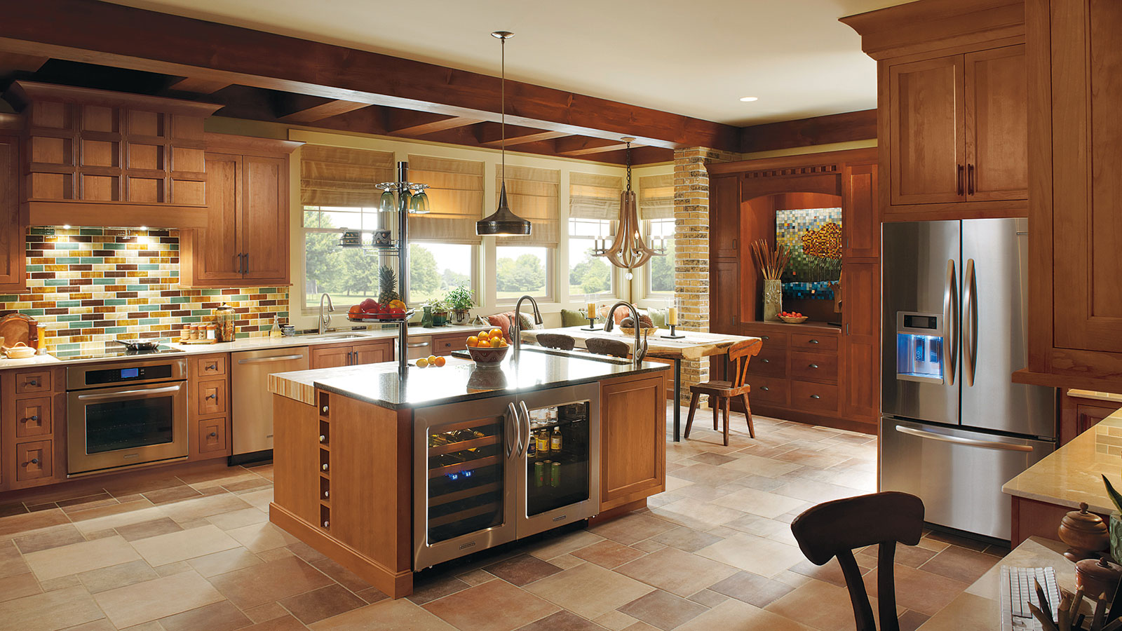 omega kitchen cabinets cherry wood cabinets kitchen Popular Cabinet Colors Bray Scarff Kitchen