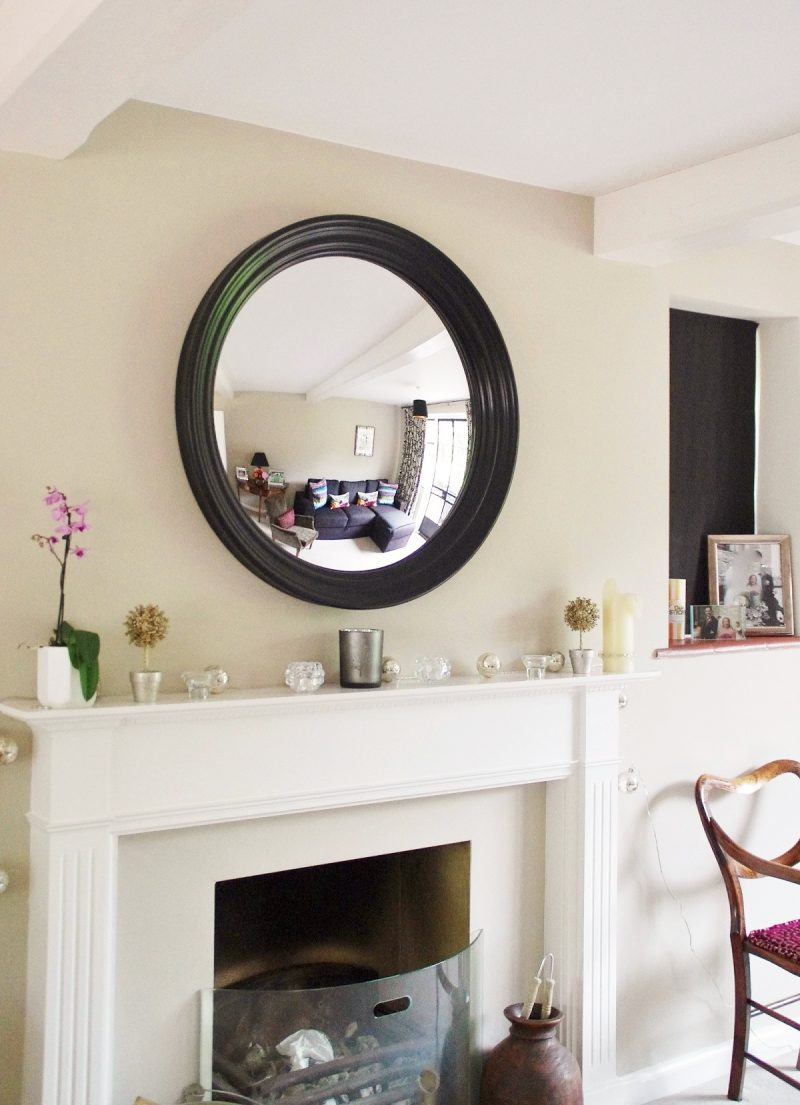 Relaxing Sale Large Round Mirror Convex Mirror Black Large Roma Hanging A Round Mirror Above A Fireplaceimage Essential Tips Hanging A Round Mirror Above A Fireplace Large Round Mirrors Lear Strap houzz-02 Large Round Mirror