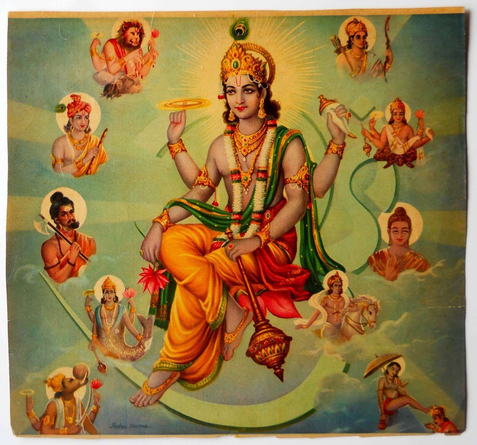 ten incarnations of vishnu Dashavatar (ten incarnations) avatars of lord maha vishnu lord sri maha vishnu incarnates on earth from time to time to eradicate evil forces, to restore the dharma he has taken nine avatars till now and the tenth avathar will descend on earth at the end of the kali yuga these ten incarnations of lord vishnu is collectively known as the.