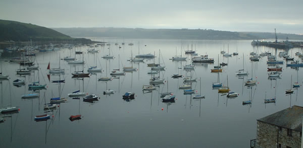 A view of Falmouth harbour early in the morning