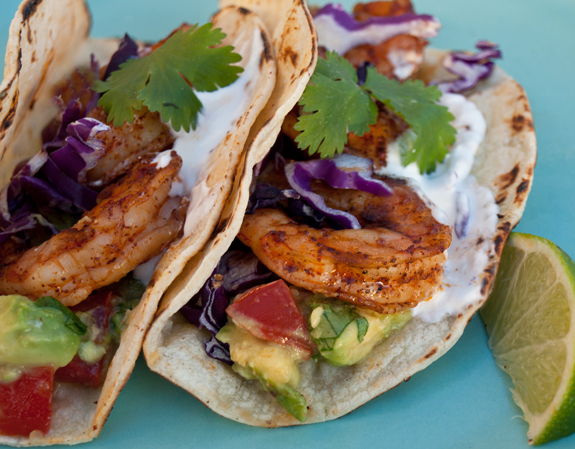 Paleo Chile Lime Grilled Shrimp Tacos