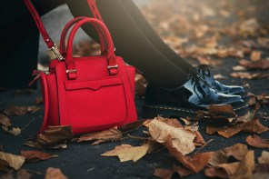 Red micro tote | Like autumn leaves