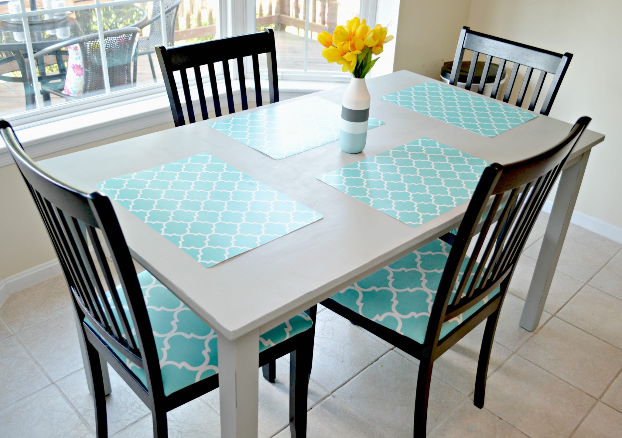 kitchen makeover table and chair redo redo kitchen table Kitchen Table and Chairs Makeover