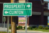 Clinton Sign