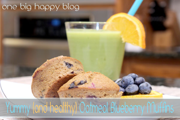 YUMMY (AND HEALTHY) OATMEAL BLUEBERRY MUFFINS