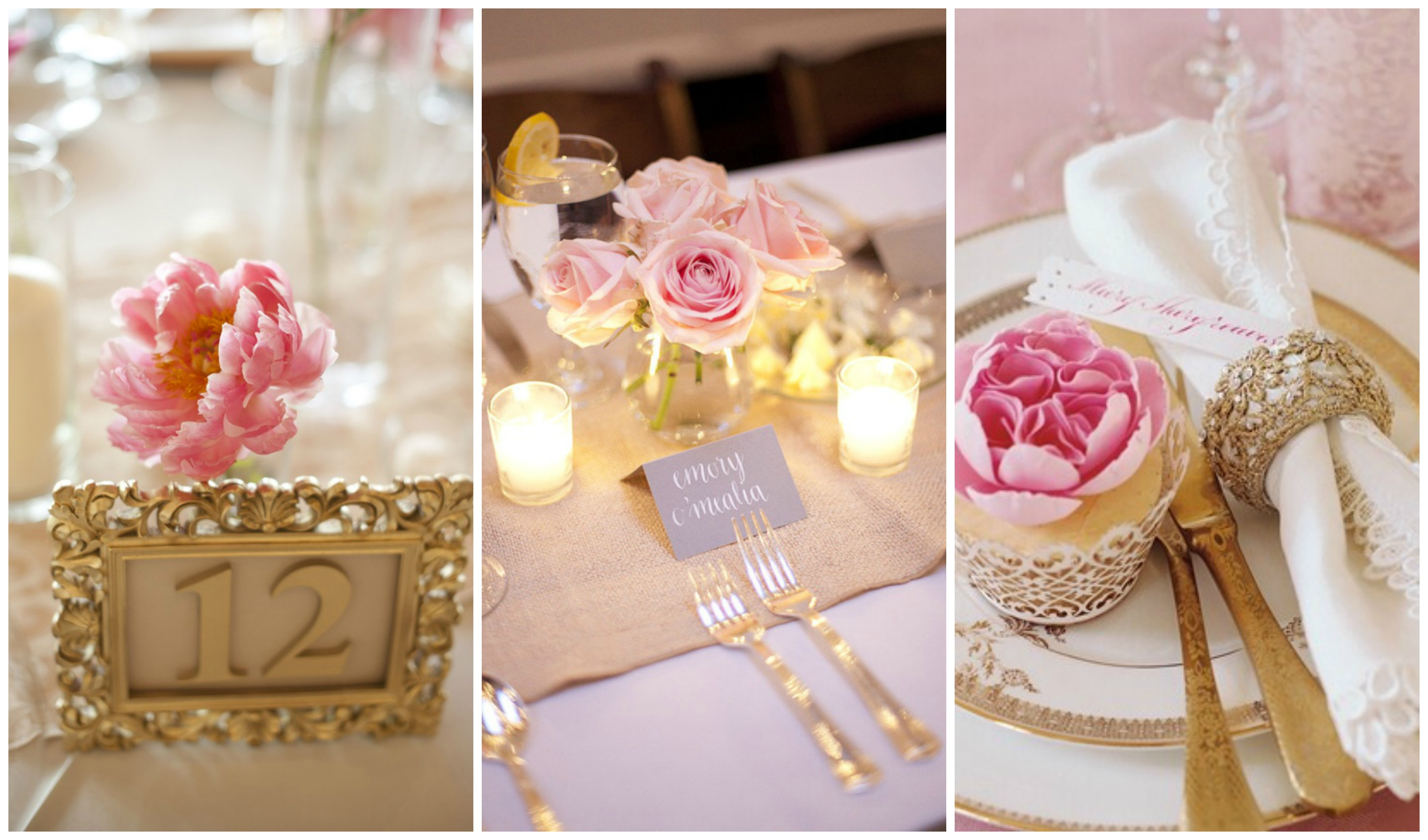 Blush pink and gold wedding inspiration one charming day