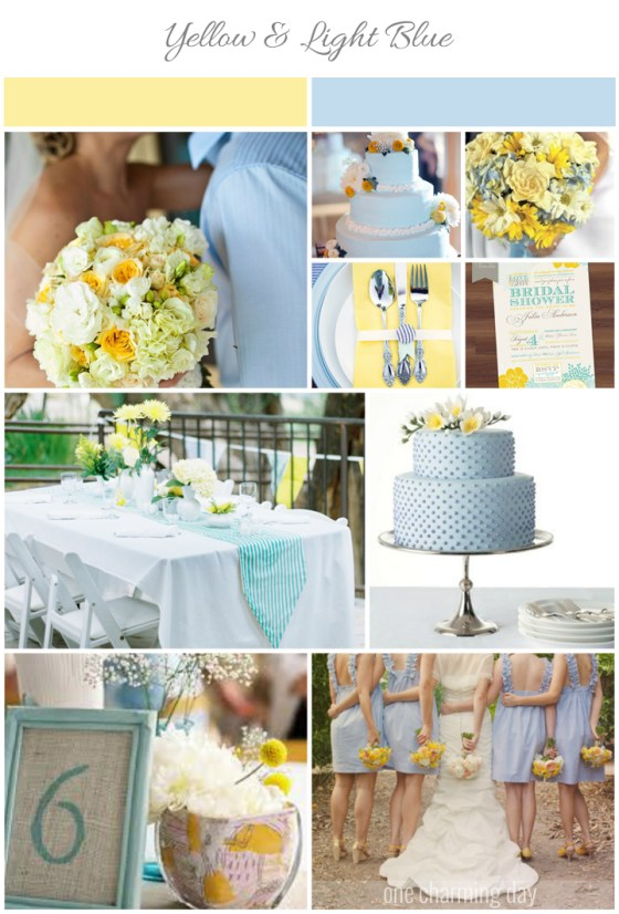 Yellow and Light Blue Inspiration Board