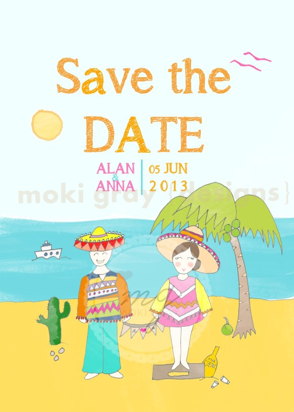 Save the Date Cards by Moki Gray