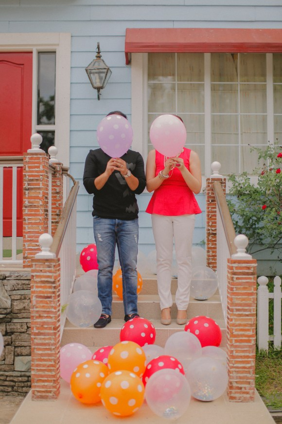 Engagement Session with Balloons styled by Tipping Point Collective