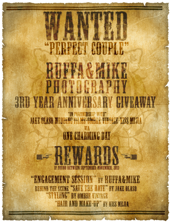 Ruffa and Mike 3rd Anniversary Giveaway Poster