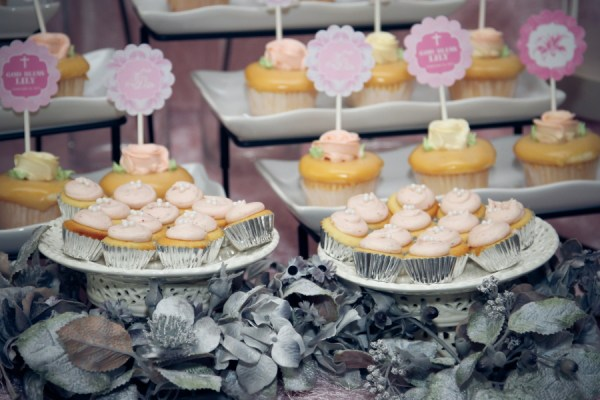 Lillies and Flowers Themed Christening - 16