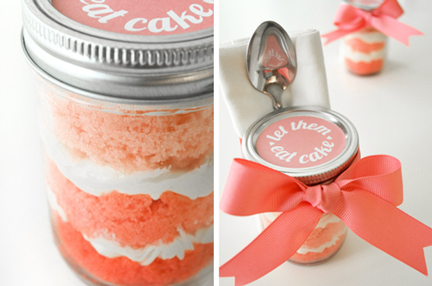 ombre cupcakes in a jar