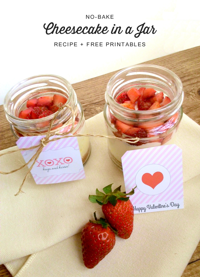 No-Bake Cheesecake In A Jar Recipe + Printables