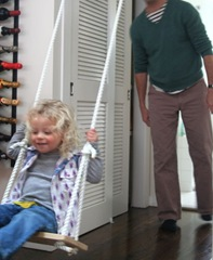 make your own indoor swing