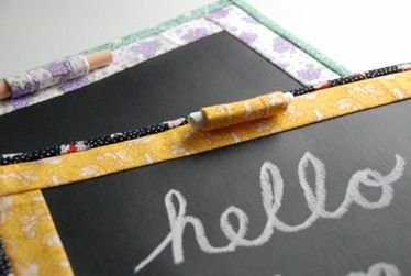 Fabric Chalkboard Pads