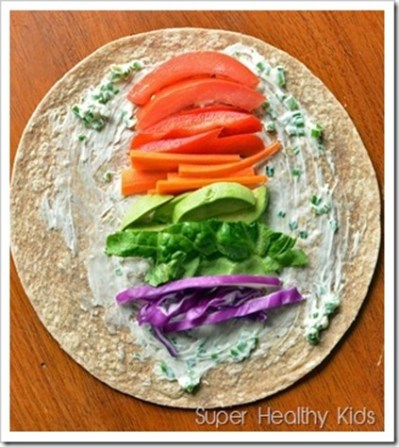 lunch rainbow wrap