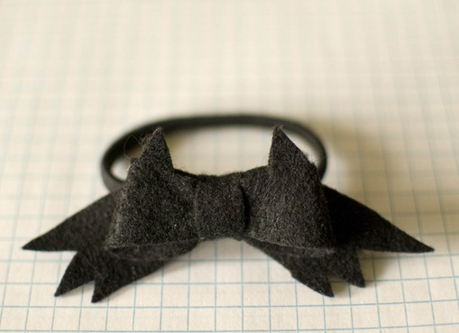 bat bow hair tie