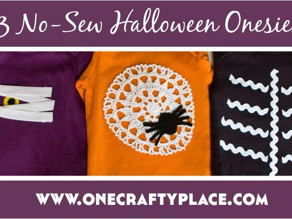 Tutorial: 3 No-Sew Halloween Onesies