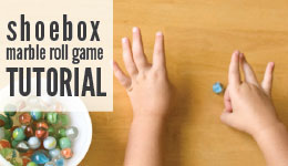shoebox marble roll game tutorial