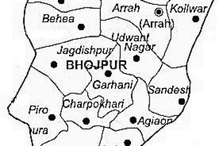 bhojpur district | bhojpur district map