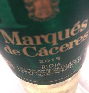 Marqués de Cáceres Rioja Blanco 2015 rioja wines