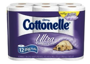 Cottonelle Ultra Comfort Care Toilet Paper Big Roll, 12 Count