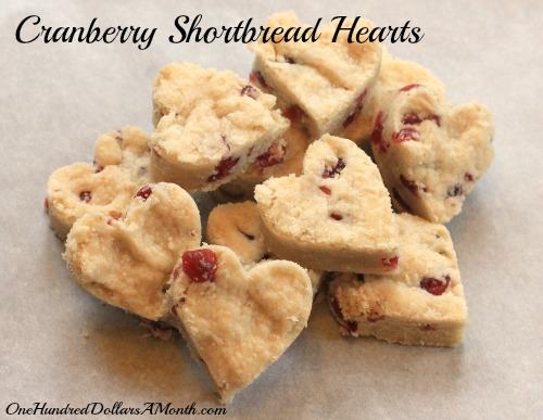 cranberry shortbread cookies recipe