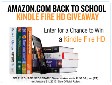 amazon kindle sweepstakes
