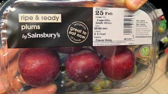 sainsburys market plums