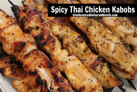 ... chicken to make these delicious Spicy Thai Chicken Kabobs . Soo good