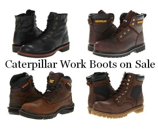 Caterpillar work boots deals coupons