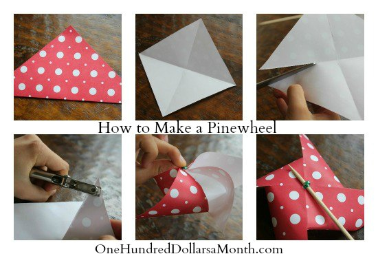 how to make a pinwheel directions