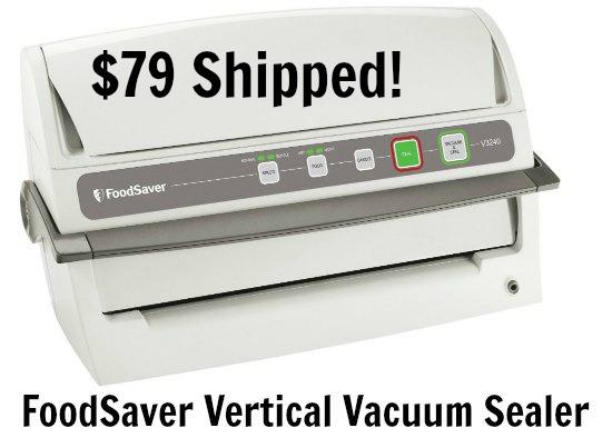 FoodSaver V3240 Vertical Vacuum Sealer, White