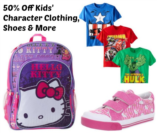 50 Off Kids' Character Clothing, Shoes & More