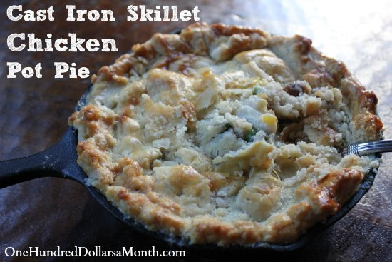 Cast Iron Skillet Chicken Pot Pie