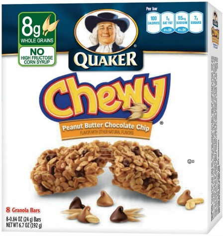 Quaker Peanut Butter Chocolate Chip Chewy