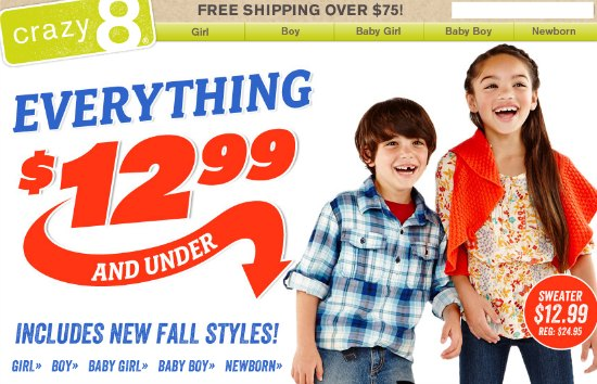 crazy 8 sale coupons