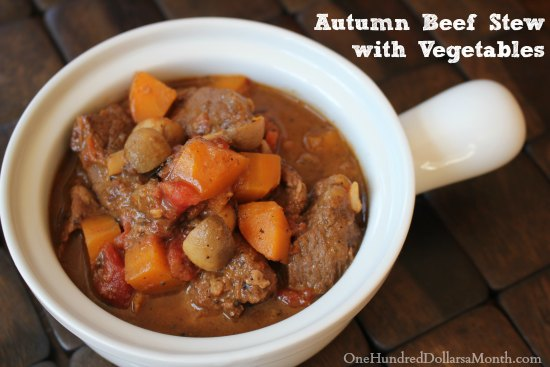 Autumn Beef Stew with Vegetables