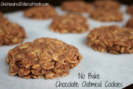 No Bake Chocolate Oatmeal Cookies recipe