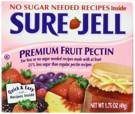 No Sugar Sure-Jell Premium Fruit Pectin, 1.75-Ounce Boxes