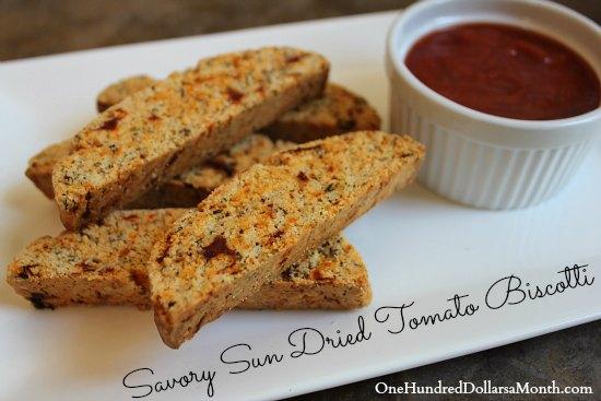 Savory Sun Dried Tomato Biscotti