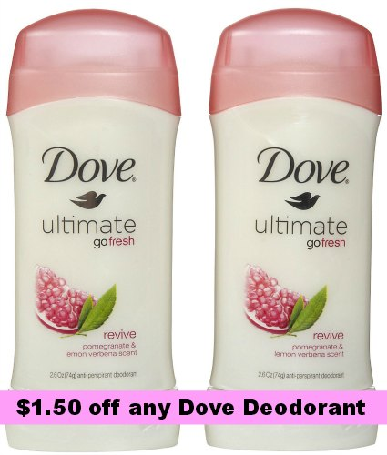 Dove Anti-perspirants coupon