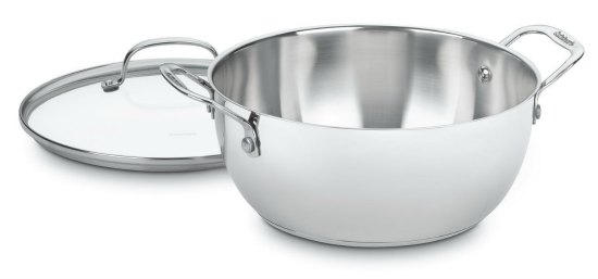 Cuisinart Chef's Classic Stainless Quart Multi-Purpose Pot with Glass Cover
