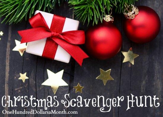 Easy Christmas Games for Kids - Christmas Scavenger Hunt