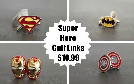 super hero cuff links
